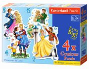 Puzzle 4-5-6-7 Princesses in Love,